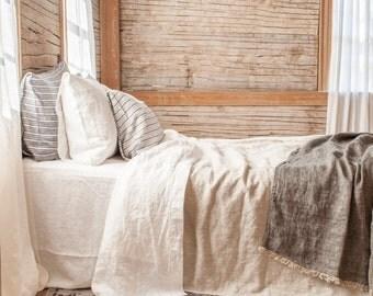 lightweight linen blanket bedspread coverlet made in Maine U.S.A.