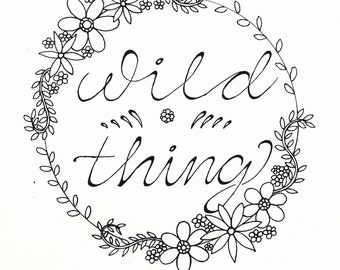Wild Thing, Single Page Print: Travelers Coloring Book