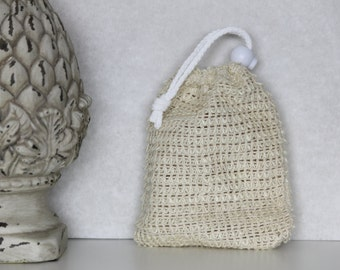Sisal Soap pouch, Beesbotanics Soap Saver, All Natural Fibers, Soap Saver