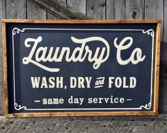 Fixer-Upper Style Farmhouse Laundry Room Sign