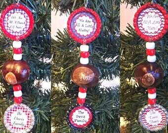 Buckeye Nut, Ohio Buckeye Nuts, Novelty Gift, Buckeye Ornament, Ohio Ornament, Buckeye Christmas, Ohio Tree Ornament, Ohio Name Ornament