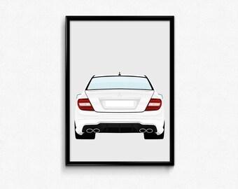 Mercedes Benz C63 AMG A3 Print
