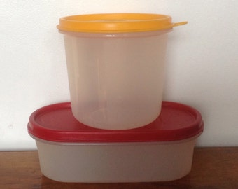 Two Vintage Tupperware Storage Containers. 1970's
