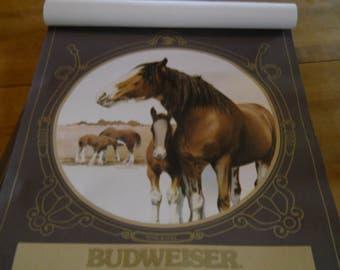 1977 Budweiser Clydesdale Calendar
