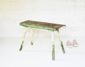 wooden bench antique