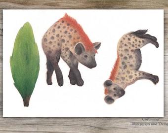 Originalillustration Hyena