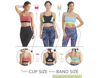 Simplicity Sewing Pattern 8339 Misses' Knit Sports Bras