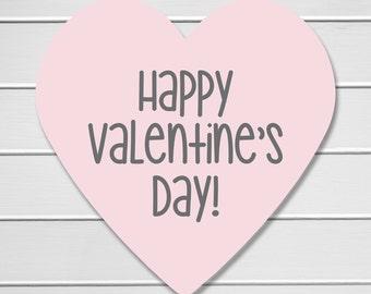 Heart Stickers, Valentine Envelope Seals, Pink Valentine's Day Stickers, Happy Valentine's Day Stickers (#704)