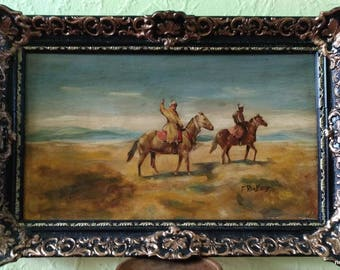 Franz Alekseevic Roubaud - Two riders in the desert.