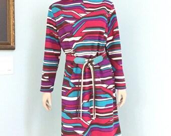 """70's Double Knit Dress, Size 20, """"Sears Roebuck Co."""""""