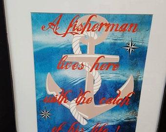 FISHERMAN PRINT