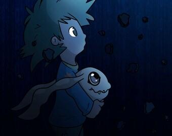 Digimon Tai and Koromon - Prints