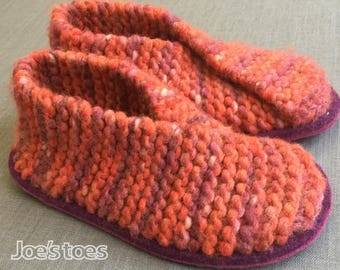 KIT for Joe's Toes Crossover Knitted Slippers UK sizes