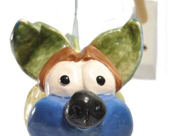 Luca collectible ceramic sculpture Dogfish signed italdesignfogliaro-Italian ceramics-art surrealism art modern