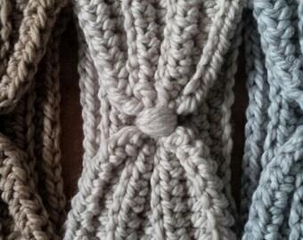 Rustik Turban Headband - chunky knit headband, warm crochet headband, thick headband, bulky knit headband, crochet headband, turban headband