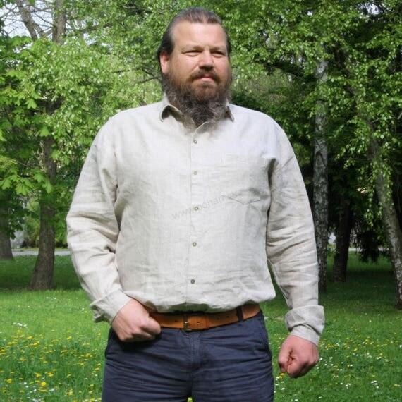 LESLAV - Classical shirt with short sleeve 100% flax / linen cQQhF