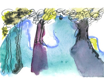 Art Print, Three Trees