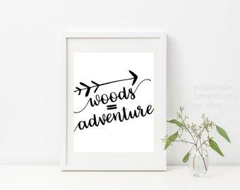Adventure Print, Adventure, Adventure Awaits, Adventure Time, Adventure is Out There,  Printable Homeschool on Etsy, Printable Art, Digital