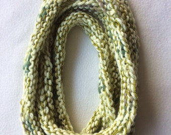 Beautiful hand knitted necklace.