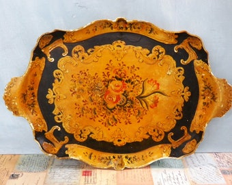 Vintage Florentine Drinks Tray Tea Tray 1950's / 1960's Large Tray