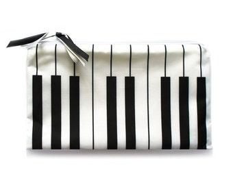 Cosmetic Bag // Piano // travel bag - make up bag - bridesmaid clutch