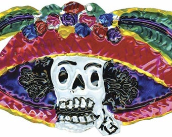 Tin Ornament - Day of the Dead's Catrina!