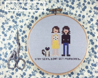 My Favorite Murder Hosts Cross Stitch PDF Pattern - Instant Download