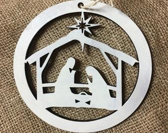 Nativity ornament, nativity scene ornament, christmas ornament