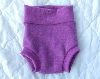 Bold Lilac Knickerwoolies - SMALL