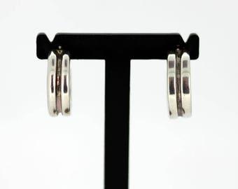 Vintage Sterling Silver Ladies Stud Earring