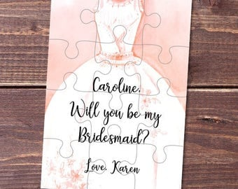 Bridesmaid proposal cards Bridesmaid proposal gifts Ask bridesmaid to be in wedding Ask bridesmaid gift Will you be my Bridesmaid puzzle