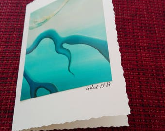 Artist card, greeting card, greeting card, photo painting, C6, with envelope