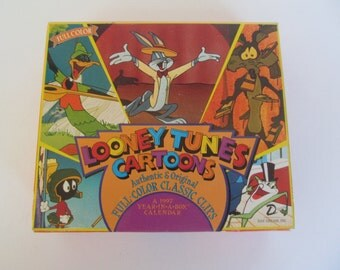 Looney Tunes 1997  Year in a box Calendar - Full  Color