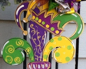 Mardi gras door hanger, mardi gras sign, mardi gras door sign, mardi gras mask, mardi grad crown, mardi gras decoration, mardi gras decor