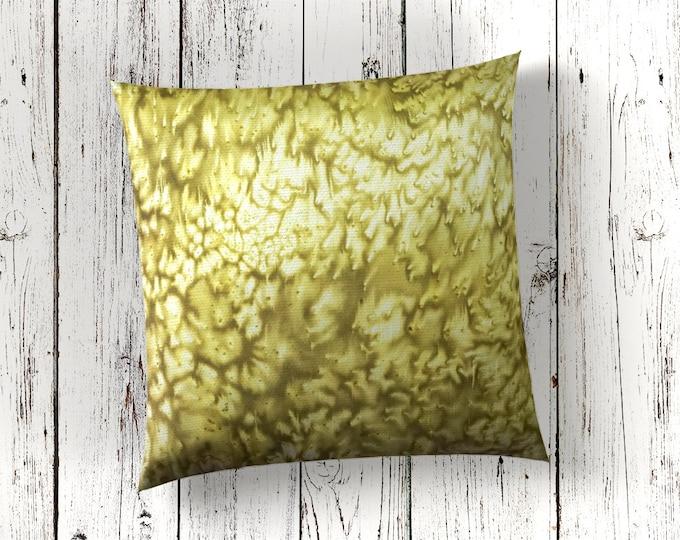 Chartreuse Pillow 18x18-Watercolor Silk Pillows-Green Pillow Cover-Tropical Decor-Boho Decor- Decor-Home Decor Gifts-Watercolor Home Decor