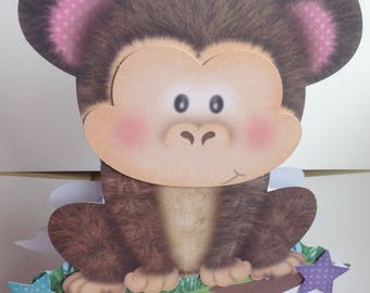 Cute Monkey Rocker Handmade Card