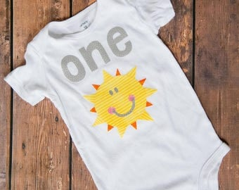 You Are My Sunshine First Birthday Outfit!