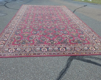 "SALE! Org 1495.00 Estate Antique ""Karastan  Sarouk 778""  Finest Wool Rug  Made in USA 10.5""W X 18""L"