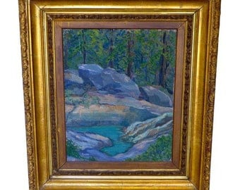"Transitional Serene Rock Creek, O/C ""Foulke""  Flowing River, Listed Artists"