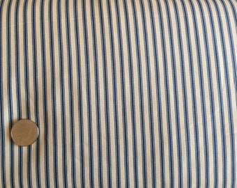 Navy cotton ticking stripe