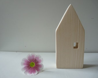 Unfinished wooden house,  Wood mini Houses, wood houses, craft wood house , unfinished mini wood house, wooden decor