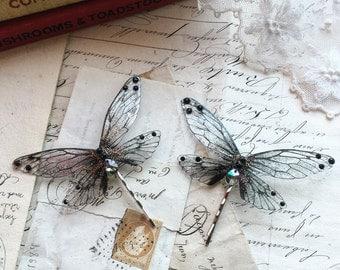 NEW Pretty black Faerie wing hair adornment