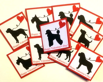 Dog Valentine Cards, Kids Valentine Cards, Kids Valentines Day Cards, school valentines, classroom valentines for kids, Set of - 10