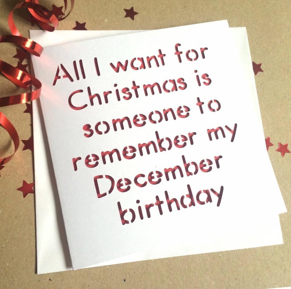 December Birthday Cardfunny Birthday Card Birthday Card