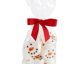 Snowman Decorated Marshmallows (8 Jumbo) Gift Bagged Party Favors