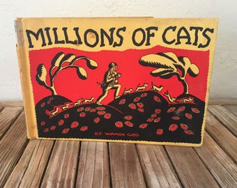 Vintage Book Titled Millions Of Cats by Wanda Gag