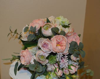 Garden Fresh Bouquet, Pale Pink Bouquet,  Blush Bouquet, Brides Bouquet, Boho Bouquet, Garden Bouquet, Peony Bouquet