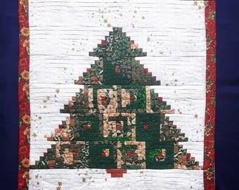 Vintage patchwok handmade Christmas decoration wall hanging