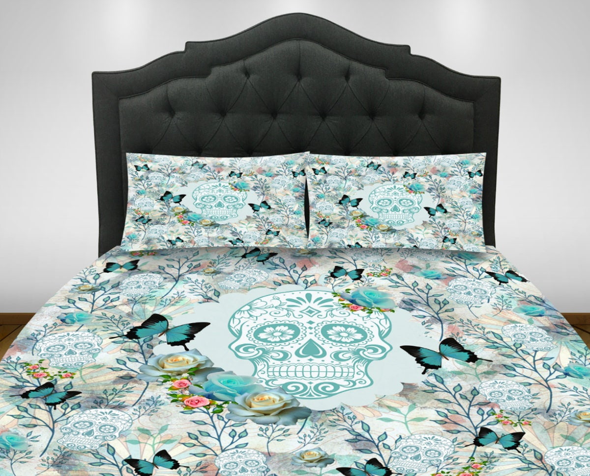 Skull Bedroom Decor Skull Bedding Etsy