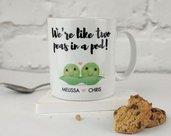 Two Peas in a Pod Personalised Mug